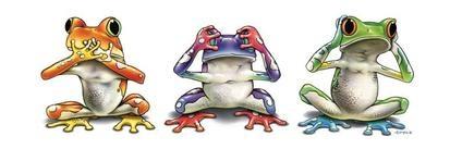 tres ranas como los monos