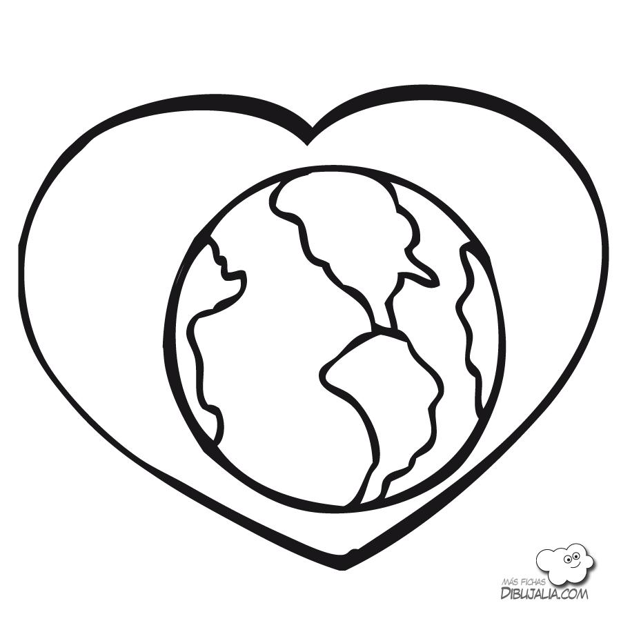 Dibujos para colorear del día del medio ambiente | pintar y jugar