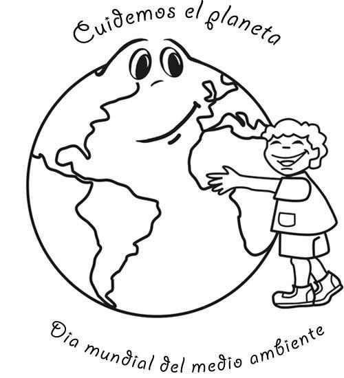 Dibujos para colorear del día del medio ambiente